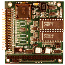 4I27A-I 2 axis servo motor controller card (analog out) Industrial temperture range.  Note: socketed LM628 chips are not lead free